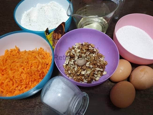 Pregateste ingredientele pentru totul de morcovi