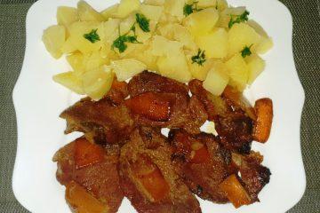 Friptura de porc in sos de portocale